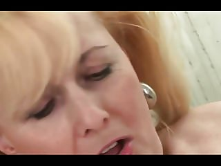 Mature bitch and a young bimbo used toys