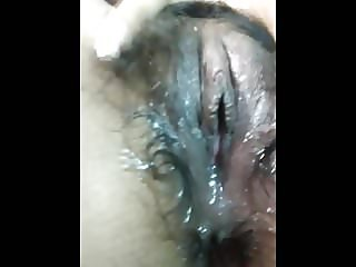 Indian Hot Girlfriend fingering her hairy wet pussy.