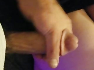 Jerk off and cum on wifes ass
