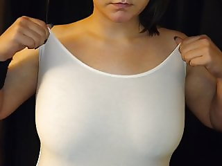 Directing My Wife To Show Off Her 38DD Tits