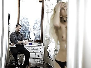 Tiny step daughter punished for partying by step dad
