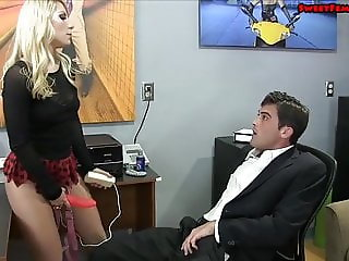 Ashley Fires Fucks Her Male Boss In the Ass
