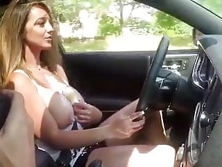 Topless in car
