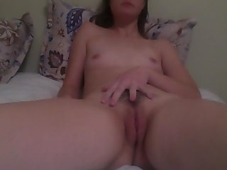 gorgeous young rubbing small tits orgasm 4:00