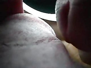 Cum on tongue - fantastic cumshot on tongue taken with a cam