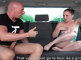 Fucking a silly slut in a van