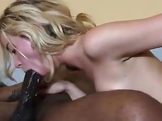 Blonde wife takes BBC