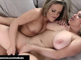 Busty Fox Maggie Green Dildo Drills Beauty Carmen Valentina