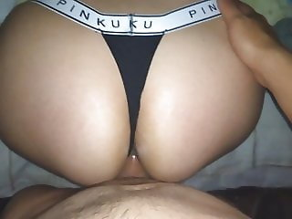 PINKU THONG!! CUMMING ON sister'S BIG ASS!!