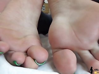 Delicious Blonde Foot - Dirty Feet and Trample Humiliation