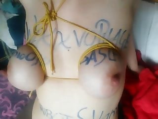 Beautiful tits tied for me... PT2  Fabio030