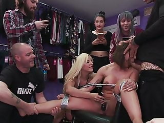 Sophisticated Betty Foxxx Fucked in Public by New Young Domm
