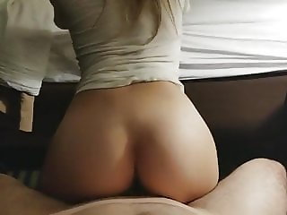 Beautiful College Teen Ass Riding Hard Dick