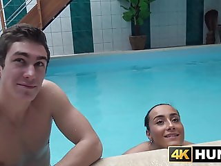 Handsome young babe fucked for cash in front of boyfriend