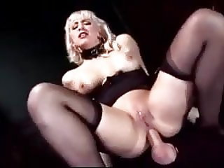Busty Blonde Mistress Face Fucks and Fucks Her Slave