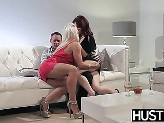 Classy lesbian Jessica Ryan tries out cock in MFF threesome
