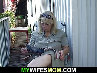 Wife finds her old mother and husband fucking