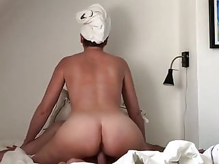Sexy wife riding