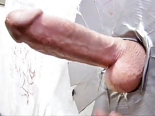 Monicka Jaymes Sucks Big White Gloryhole Cock