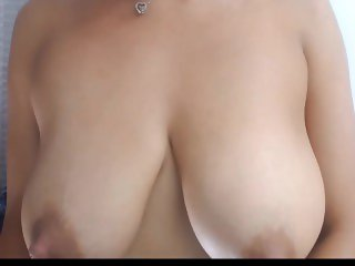 Pulling and Tugging Her Lactating Nipples