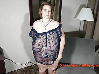 Extreme saggers in a rope bra