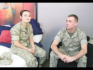 ASIAN MARINE GIRL WITH BEAUTIFUL FACE FUCKED IN THE ASS