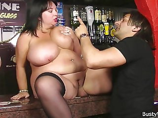 Boss fingers and fucks her fat pussy