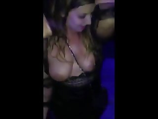 Champagne shower (18) - topless girl covered at party