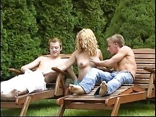 Pregnant threesome anal