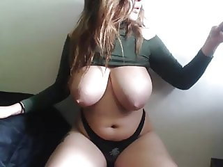 slim and busty beautiful tits with puffy nipples