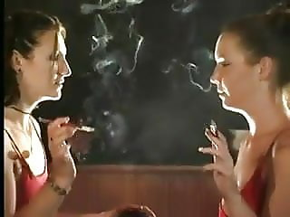 Woman smoking fetish