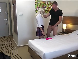 GERMAN SISTER CAUGHT BRO JERK WITH HER PANTY AND HELP