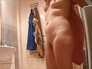 Compilation of my naked wife on real hidden cam - 3