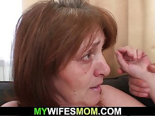 Guy fucks old girlfriend's old mother