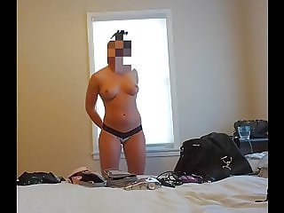 Wife in panties and bra
