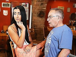 DADDY4K. Pretty chick wanted to experience old and young...