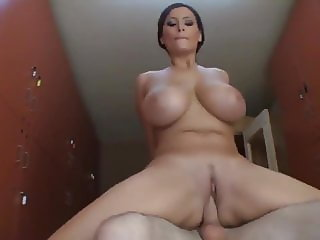 Busty Swedih MILF Rides Cock and Takes Cumshot