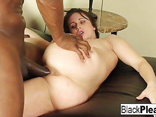 Super sexy Jackie Jevaux receives black dick in the office