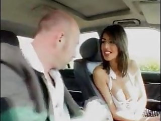 French Milf Bangs in a Car