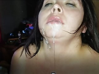 Sexy BBW Spanked, Tied Up and Face Covered in Cum (Preview)