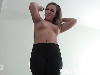 Jerk your cock while I tease you in my yoga outfit JOI