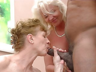Two grannies want his cock!