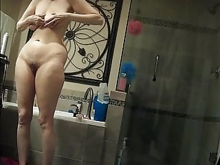 Wifey Gets Ready for Shower