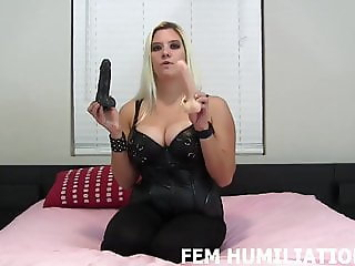 Both of these big cocks are going inside your sissy ass