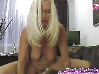 PERFECT SKINNY BLOND MATURE GERMAN MILF FUCK YOUNG BOY