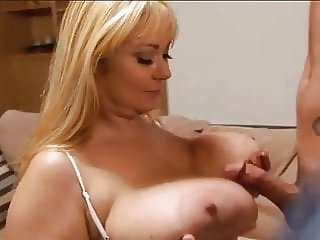 SAMANTHA 38G BLONDE WOMAN WITH HUGE TITS IS CUMMING