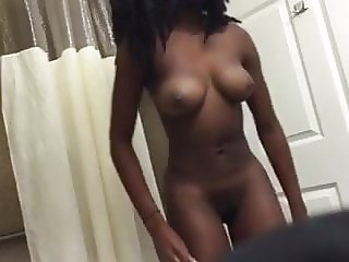 Sexy Ebony in Shower