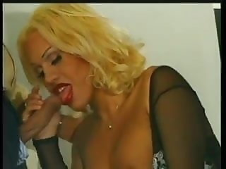 Blonde latin tranny with stockings fucks with Andrea Nobili