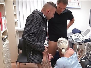 German FEMALE Nurse Fuck with two Young Boys in Praxis