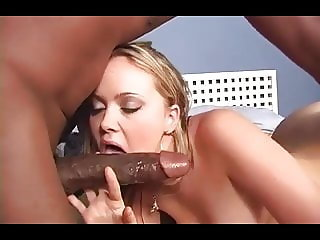 Curve blonde girl in sex with huge black cock